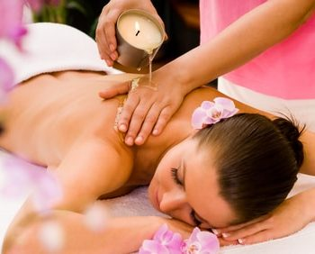 Candle massage with hot oils